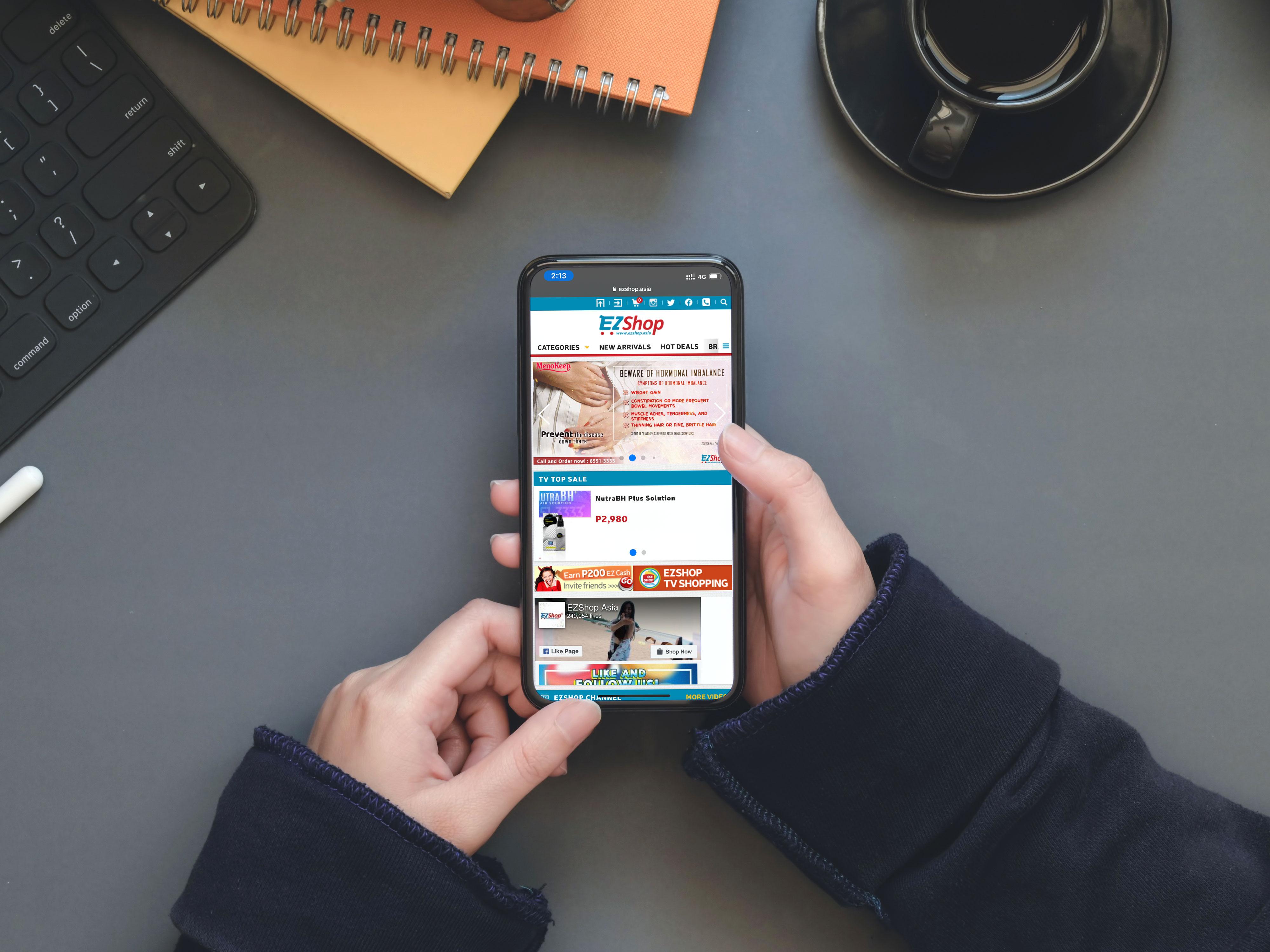 EZShop, Online shopping, Philippines, 線上購物, 電視購物, 菲律賓, 品牌設計, 標誌設計, sam brandesign